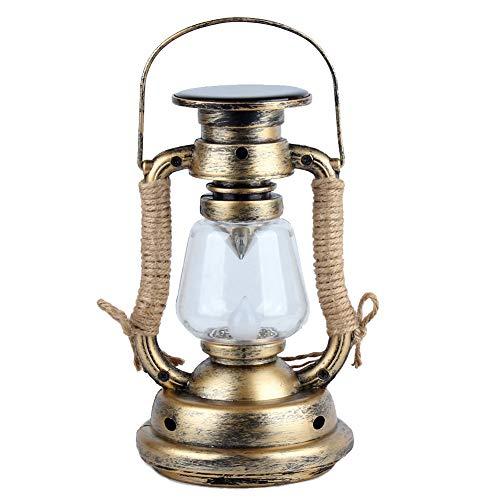 LED Vintage Style Solarlampe für Außenbeleuchtung Laterne, Fake Oil Lamp, Hängende Camping Laternen, Flammenlose Kerze, Mehrzweck-Einsatz Kerzenständer Wasserdichte Dekoration, Weiß