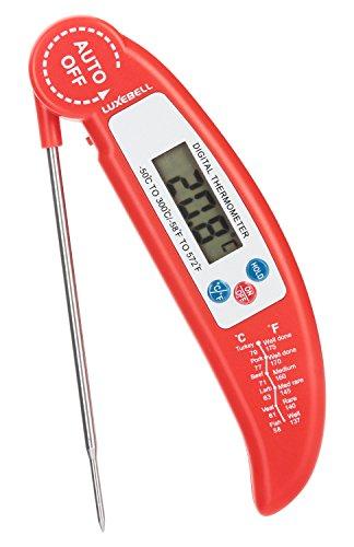 Luxebell® Küchenthermometer Digital LCD Haushaltsthermometer küchen für Kochen Küche Marmelade BBQ Grillen Wein Steak Milch