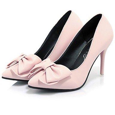 RTRY Donna Di Talloni Di Base Molla Pompa Di Caduta Pu Abbigliamento Casual Stiletto Heel Arrossendo Rosa Blu Nero 2A-2 3/4In US6 / EU36 / UK4 / CN36