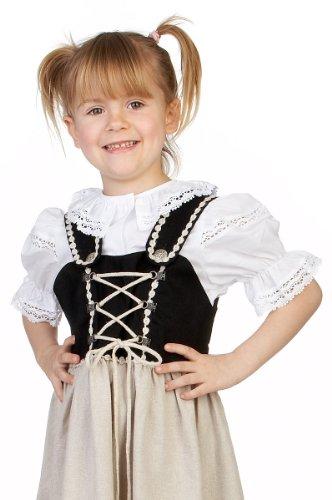 M.Stützle Trachten Kinder Bluse - SPITZENKRAGEN Weiß