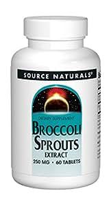 Source Naturals, Extrait du choux du brocoli , 60 comprimés