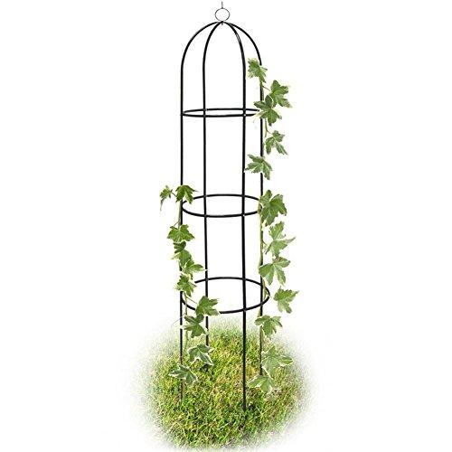 Bakaji supporto per piante rampicanti obelisco arco da giardino altezza 185 cm colore verde scuro