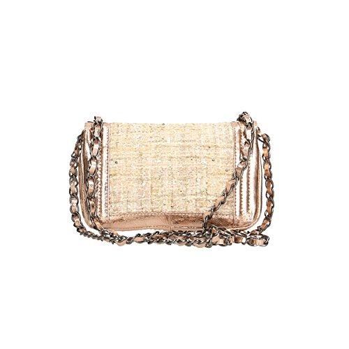 Chicca Borse Borsa a tracolla in pelle 20x13x8 100% Genuine Leather Rosa