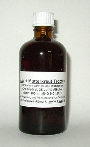 100ml Asvet Mutterkraut Tropfen, Tinktur, Extrakt , Konzentrat