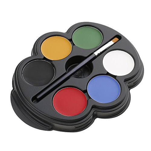 sichtsfabe Körperkunst Farbe Make-up Palette Halloween Party Kosmetik Schminkpalette Kit - Mehrfarbig 1# (Party Palette Gesicht Malen Kit)