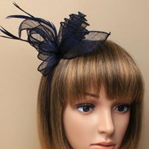Différentes formes 3D bleu marine bandeau aliceband Chapeau Bibi mariage
