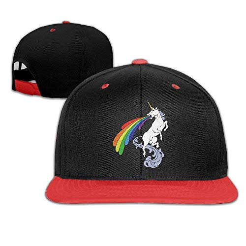 Spray Rainbow Unicorn Baseball Snapback Hip Hop Cap Personalized for Womens