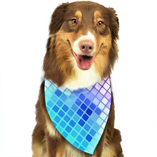 Osmykqe Bright Circle Hund Bandana Pet Schal für kleine mittelgroße Hunde Zubehör