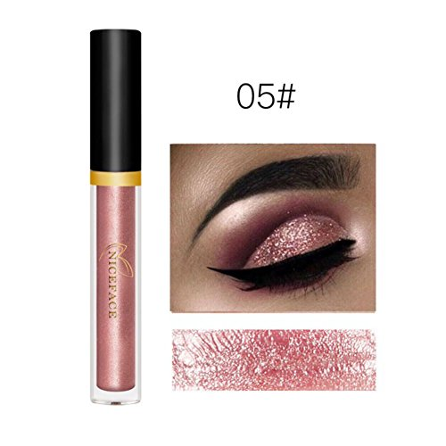 Allbesta Pearlescent Glitzer Lidschatten Make-up Stift Flüssig Eyeshadow Kosmetiks Smoky Wasserfest Langanhaltend (Sleek Kosmetik-highlight)
