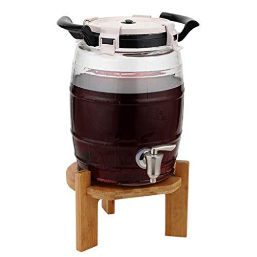 A-fort porta rack botte di vino in vetro senza piombo, birraio/contenitore per succhi, bottiglia per enzimi, distributore di vino multifunzione - 7,9 litri (capacità : 7.9l)