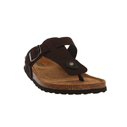 RIFLE Herren Sandale Flip Flops mit Verstellbarer Schnalle 161M124630 Buck Braun