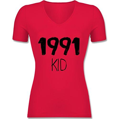 Shirtracer Geburtstag - 1991 Kid - Tailliertes T-Shirt mit V-Ausschnitt für Frauen Rot