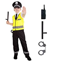Kids Police Officer Costume Childs Policeman Uniform Cop Fancy Dress Up For Boys and Girls
