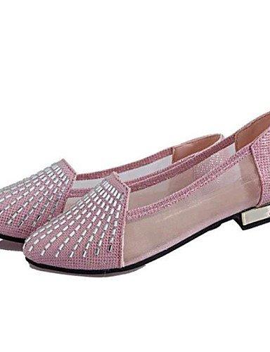 ShangYi Sandaletten für Damen Damenschuhe-Ballerinas-Lässig-Kunstleder-Flacher Absatz-Komfort-Rosa / Silber / Gold Silver
