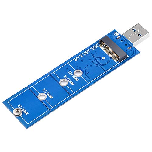 ELUTENG M.2 SSD to USB 3.0 Adapter NGFF SATA Based B/B+M Key Adapter 5Gbps (No Cable Needed) Support 2230 2242 2260 2280 Compatible for Windows 10/8/7/XP/2003/2000/Vista, Linux and Mac 10.0 OS