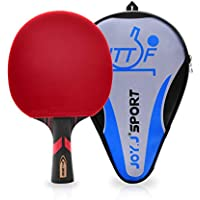 Joy.J Table Tennis Bat with case, Professional Pingpong Racket, TT Paddle with ITTF Rubber