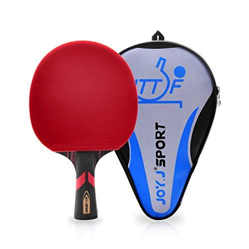 Joy.J Sport ITTF Genehmigter Tischtennisschläger, Professioneller Tischtennis-Schläger, Ideal für Zwischenspieler und Fortgeschrittene Spieler (Anfänger-Zwischenspieler)