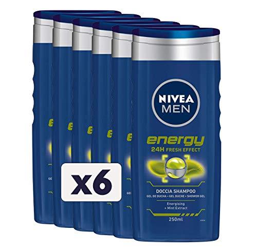 Nivea Men Energy Shampoo, 6 Stück