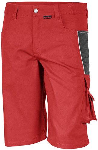 Qualitex PRO Shorts MG245 - rot/grau - Größe: 46