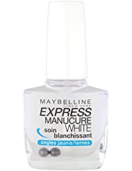 Maybelline New York Express Manucure - Vernis à ongles soins - White Soin Blanchissant ongles jaunes