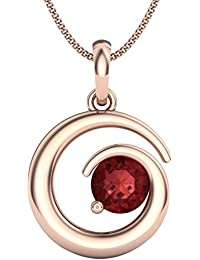 Perrian 18KT Rose Gold and Ruby Pendant for Women
