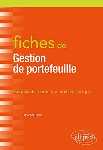 Fiches de gestion de portefeuile par Mondher Cherif