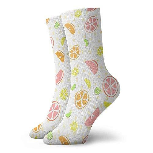 REordernow Kurze Socken für Männer, Frauen Orange Pattern Adult Short Socks Cotton Cool Socks for Mens Womens Yoga Hiking Cycling Running Soccer Sports -