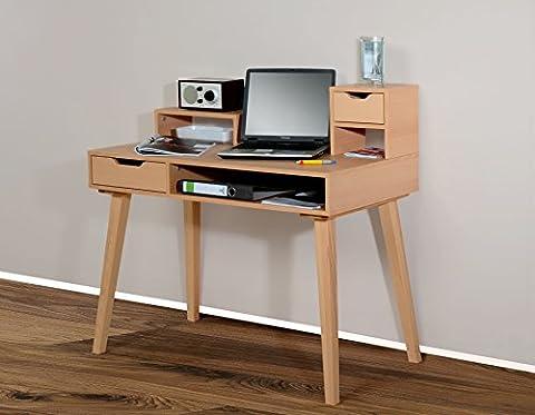 1194 - Schreibtisch Sekretär in verschiedenen Farben, mit massiven Füßen (buche / buche massiv)