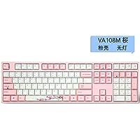 LCRGMPC Cherry Blossom Pink Girl Teclado mecánico Mute Juego Oficina Teclado Ergonómico Tipo-C Interfaz