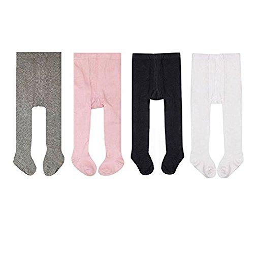 Tianou 4pc/lot calzamaglia dei calzamaglia dei capretti dei calzamaglia del cotone delle ragazze delle neonate (6m)