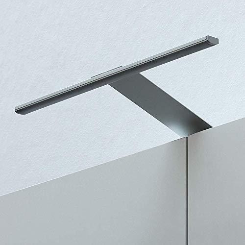 LED Kleiderschrankleuchte Aufbauleuchte Schrankbeleuchtung 31cm 4W in Aluminium, IP23, kaltweiß 6200K - für Möbel, Spiegel und Badezimmer 12V zum Aufschrauben (Aluminium - Kaltweiss 6200K)