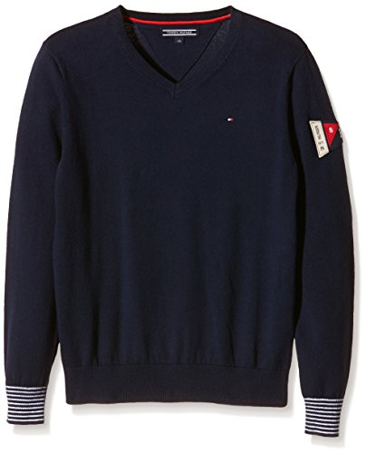 Tommy-Hilfiger-Badge-Vn-Sweater-LS-Jersi-para-Nios
