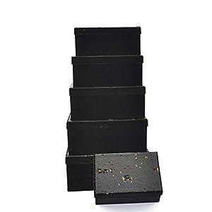 Gifts 4 All Occasions Limited SHATCHI-1304 - Cajas de almacenamiento con tapa de Shatchi (6 unidades), diseño de Navidad, multicolor