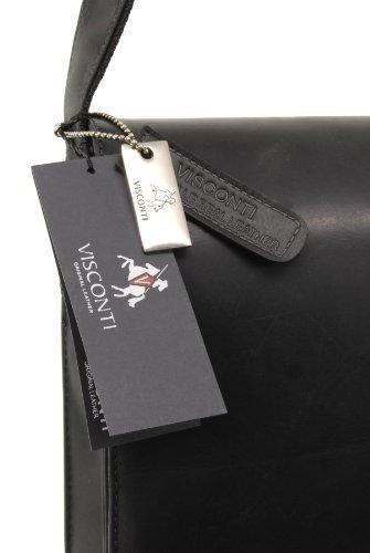 Visconti - Borsa Messenger in pelle A4 Notebook/ipad - 18548 - Unisex adulto Nero (Schwarz)
