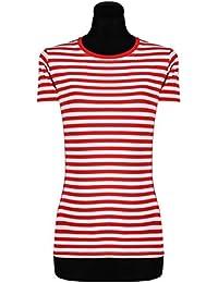 02291e317e63e4 Ringelshirt für Damen Kurzarm gestreift eng geschnitten tailliert in  verschiedenen Farben & Größen