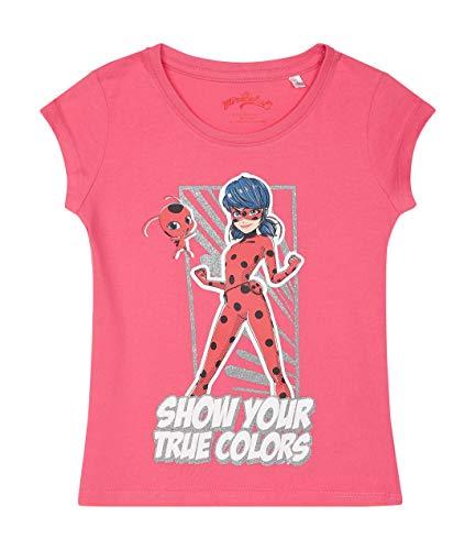 Miraculous Mädchen T-Shirt Pink 116 - Mädchen Glitzer T-shirt