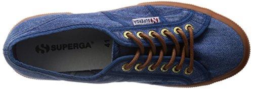 Superga  2750 Denim Stonewash, Damen Sneaker Blau