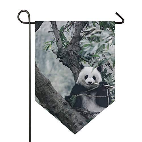 AMONKA Gartenflagge mit süßem Panda-Motiv, aus Bambus, doppelseitig, Polyester, für Haus, Außendekoration, 30,5 x 45,7 cm, Polyester, Multi, 28x40 Inch