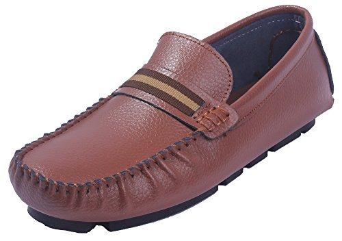 Ageemi shoes uomo puro tessuto lucido tacco basso luccichio scarpe da uomo,eun21 marrone 43