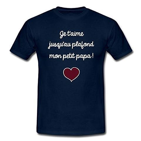Je T'Aime Mon Petit Papa T-shirt Homme de Spreadshirt®, XL,