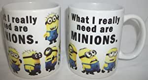 What I really Need Are Minions Ceramic Mug Tasse Becher