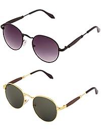 ADDON EYEWEAR Brand UV Protected Unisex Round Wayfarer Sunglasses For Men Women Boys And Girls Non Polarized Goggle... - B077DD8626
