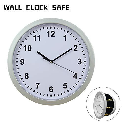 SELUXU Reloj de Pared Compartimento Oculto Caja Fuerte Secreta Caja de contenedores para Dinero joyería...