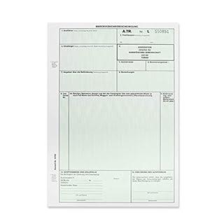 50 x A.TR. / ATR Warenverkehrsbescheinigung Formular für Laser- und Inkjetdrucker 821631