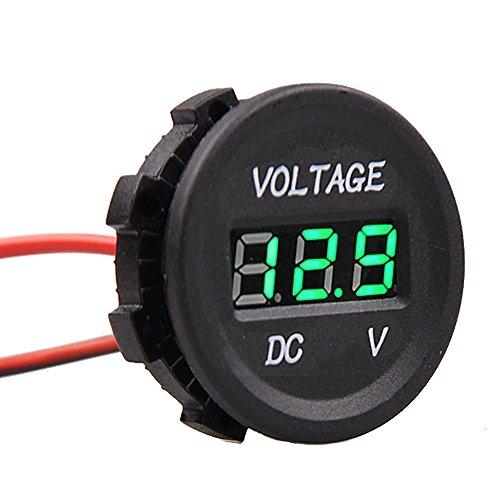 Preisvergleich Produktbild HOTSYSTEM 12-24V Wasserdicht Digital Voltmeter Messbereich 6-30V LED Spannungsanzeige Für Auto Motorrad LKW Grün