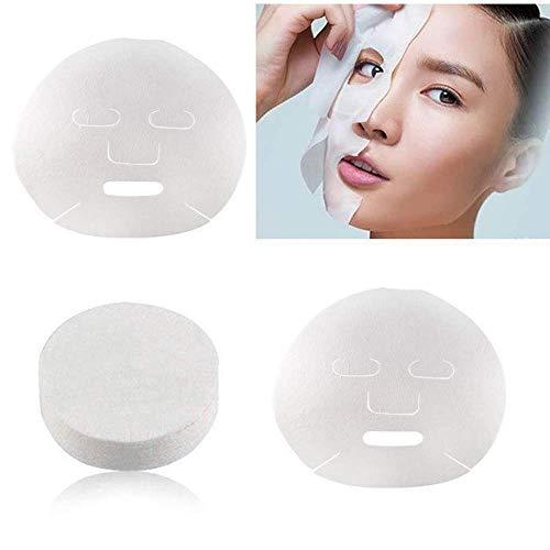 Premium Qualität 100 stücke Haut Gesichtspflege DIY Gesichtsmaske Blatt Papier Gesichtspapier Unkomprimiert Baumwolle Masque Maske Weiß Carry stone