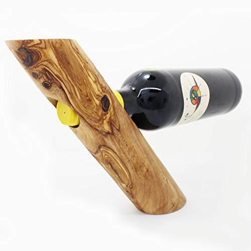 Mitienda Weinflaschenhalter aus Holz, Weinhalter, Handarbeit, Faschenhalter aus Olivenholz,...