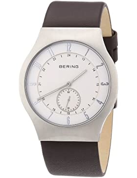 Bering Time Herren-Armbanduhr XL Radio-Controlled Analog Leder 51940-570