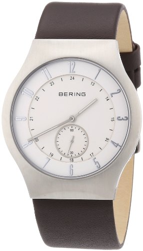 BERING Time 51940-570 Herrenarmbanduhr Radio Controlled Kollektion mit Lederband und kratzfestem Saphirglas.Designed in Denmark