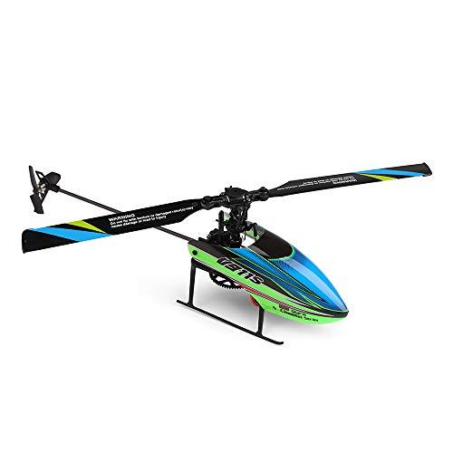 Dapei Flybarless RC Helikopter mit Batterie, Ferngesteuerter Hubschrauber 2.4 GHz 4 Kanal Gyro-Technik 3D Flip RC Flugzeug Spielzeug für Kinder (4 Hubschrauber Gyro Kanal)
